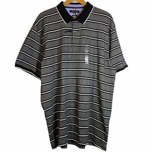Tommy Hilfiger Black White Stripes Polo Shirt XXXL
